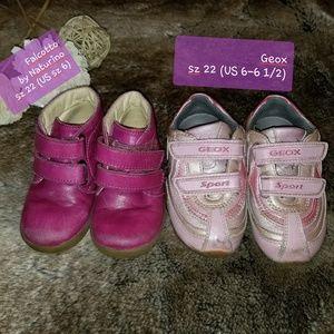 Naturino & Geox 2 pairs of girls shoes sz 22